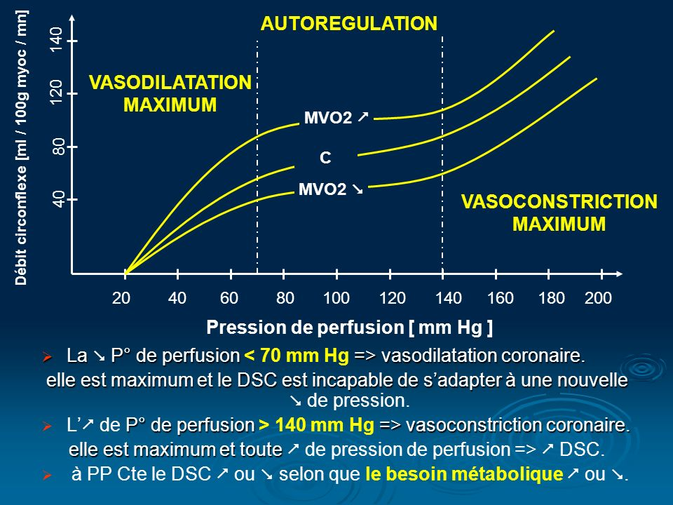 Pression de perfusion [ mm Hg ]